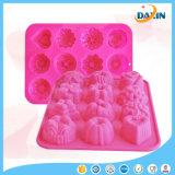 Preciosa silicona jabón hecho a mano del molde del molde de pastel