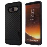 Samsung 은하 S8를 위한 좋은 Rubberized 탄소 섬유 기갑 뒤 케이스 플러스