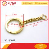 새로운 형식 금속 키 O 반지, 편평한 열쇠 고리, Keychain 의 중요한 홀더, 쪼개지는 열쇠 고리