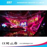 Visualización video 4.81m m de alquiler ultra fina que hace publicidad, pantalla de visualización de pared del LED 43264dots/Sqm del LED