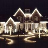 striscia dell'indicatore luminoso della corda della decorazione LED di natale 3528 60LEDs per esterno e dell'interno