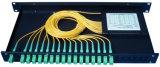 Divisor do PLC da montagem de cremalheira do conetor 1X8 do PLC Sc/APC