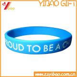 Kundenspezifischer Qualität Debossed Entwurfs-SilikonWristband (YB-AB-001)