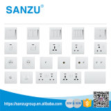 Interruptor de pared de lujo y Socket 4 Gang for Room
