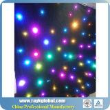 Cortina branca e preta da estrela do diodo emissor de luz da luz de pano do fundo do concerto