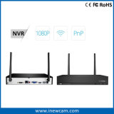 De hete Draadloze 4CH Uitrustingen van WiFi NVR van het Toezicht van kabeltelevisie 1080P (de Camera's van NVR+4 IP)