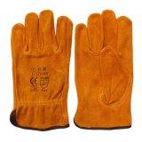Руки безопасности работы кожи коровы перчатки водителя защитной работая