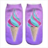 Eis Cream&Leaves Cuty Entwurf gedruckte niedrige Socke