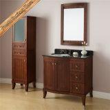 Governo curvo superiore del bagno di vanità della stanza da bagno di legno solido