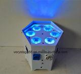 A PARIDADE da bateria do DJ pode 6X18W RGBWA 6 UV em 1 diodo emissor de luz sem fio Uplight de DMX IR