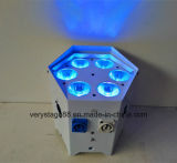 Licht van het verre UV6in1 LEIDENE 6X18W RGBWA PARI van de Batterij het Draadloze