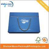 Коробка упаковки голубой бумаги ювелирных изделий ручки и крышки (QY150019)