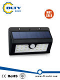 Indicatore luminoso alimentato solare del sensore di movimento con il LED