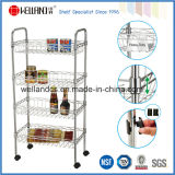 Approbation NSF Chrome Metal Wire panier de panier de cuisine Trolley