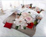 Reeks van het Blad van het Bed van de Dekking van het Dekbed van de polyester 3D Afgedrukte