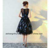 Elegante schwarze Cocktailkleid-Abend-Kleider