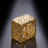 Кольцо классицистического квадрата золота Femaleyellow способа латунное