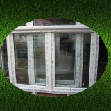El bastidor de doble cristal en color blanco de UPVC ventana con vidrio Invisible