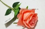 Tocco reale di seta della Rosa dei fiori artificiali singolo per il giorno del biglietto di S. Valentino della decorazione di Fesitival