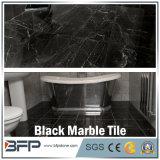 Mattonelle di pavimento di marmo nere Shinning con il disegno elegante per pavimentazione interna/esterna hotel/della residenza