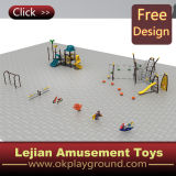 Ce Good Quality Children Outdoor Play Estrutura de plástico (X1502-8)