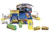 Brinquedo plástico do lote de estacionamento com carro da liga (H8215021)