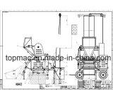 De Concrete Mixer van het Merk van Topmac met Mechanisch Vultrechter en Heftoestel
