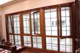 Design churrasqueiras arqueada superior da janela de madeira de alumínio