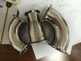 Il morsetto saldato il raggio lungo sanitario dell'acciaio inossidabile Elbows 90 gradi