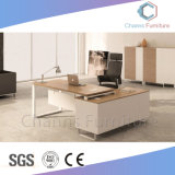 Populares el marco de metal Muebles de oficina en forma de L Escritorio Mesa Ejecutiva (CAS-MD1876)