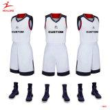 Healongの人のための上の販売のスポーツ・ウェアの昇華印刷のバスケットボールジャージー