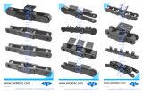 Las cadenas de rodillos de acero inoxidable especial personalizado