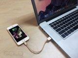 Apple iPhone Mfi를 위해 증명된 금속 땋는 번개 케이블