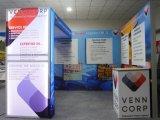 Exposición de productos portátiles de la cabina ¡