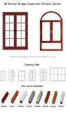 Finestra termica di alluminio multicolore della rottura con differenti modi di apertura