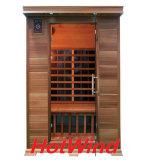 2017 Hotwind lejos de Cedro Rojo sauna de infrarrojos para 2 persona-D2
