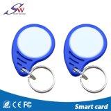 ABS Ntag213 RFID Keychain van de Naam 13.56MHz van de Douane van het Toegangsbeheer