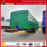 3台の車軸棒の畜産場の貨物トレーラー