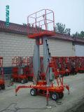 Platform van de Lift van het Werk van de Legering van het Aluminium van de Mast van Ce het Gediplomeerde Hydraulische Enige
