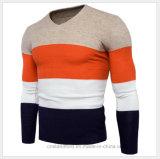 겨울 가을 착용 V 목 스웨터에 의하여 뜨개질을 한 스웨터를 사람을 배치한다