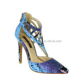 Dame Leather Shoe Snake Skin voor Vrouwen Sandals