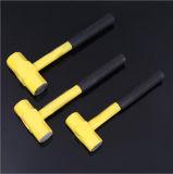 Молоток ручного резца восьмиугольный с желтой ручкой брызга стальной трубы