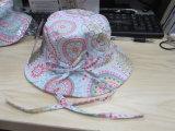 Chapéu flexível de Sun da tira da cubeta de Customiz com a flor para o verão