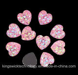 All Star Resin Stonesの中国Factory Direct Sale Heart Shape Ab Color Sew