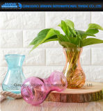 De gekleurde het Leveren van de Waterplant BloemenVaas van de Ambacht van het Glas van Artikelen