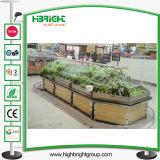 Hölzerner MDF-Supermarkt-Gemüsebildschirmanzeige-Zahnstange