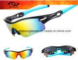 Polarisierte Eyewear im Freienfahrrad-Sonnenbrille-Bewegungsfahrrad-reflektierende UVschutzbrillen 5 Objektive, die Gläser komprimieren