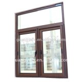Деревянная дверь алюминиевого окна зерна