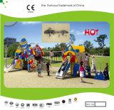 Divertimento de Kaiqi e campo de jogos temático das crianças coloridas de Rocket com ponte de corda e corrediças (KQ21045A)