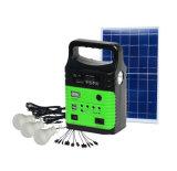 2018 Hot 10W Solar Sistema inicial do kit de iluminação solar com leitor de MP3 para rádio FM Luz Solar com lâmpada de 3